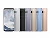 Samsung Galaxy S8 Orjinal Clear Cover Gold Rubber Kılıf - Resim 5