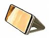 Samsung Galaxy S8 Orjinal Clear View Uyku Modlu Standlı Kapaklı Gold Kılıf - Resim 3