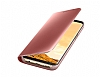 Samsung Galaxy S8 Orjinal Clear View Uyku Modlu Standlı Kapaklı Pembe Kılıf - Resim 4