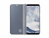 Samsung Galaxy S8 Orjinal Clear View Uyku Modlu Standlı Kapaklı Silver Kılıf - Resim 2