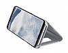 Samsung Galaxy S8 Orjinal Clear View Uyku Modlu Standlı Kapaklı Silver Kılıf - Resim 3