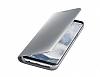 Samsung Galaxy S8 Orjinal Clear View Uyku Modlu Standlı Kapaklı Silver Kılıf - Resim 4