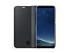 Samsung Galaxy S8 Orjinal Clear View Uyku Modlu Standlı Kapaklı Siyah Kılıf - Resim 2