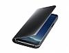 Samsung Galaxy S8 Orjinal Clear View Uyku Modlu Standlı Kapaklı Siyah Kılıf - Resim 4