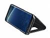 Samsung Galaxy S8 Orjinal Clear View Uyku Modlu Standlı Kapaklı Siyah Kılıf - Resim 3