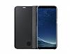 Samsung Galaxy S8 Plus Orjinal Clear View Standlı Kapaklı Siyah Kılıf - Resim 2