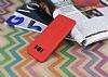 Samsung Galaxy S8 Plus Deri Desenli Ultra İnce Kırmızı Silikon Kılıf - Resim 1