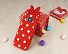 Samsung Galaxy S8 Plus Fiyonklu Kırmızı Silikon Kılıf - Resim 1