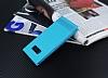 Samsung Galaxy S8 Plus Gizli Mıknatıslı Yan Kapaklı Mavi Deri Kılıf - Resim 1
