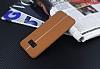 Samsung Galaxy S8 Plus Kadife Dokulu Kahverengi Silikon Kılıf - Resim 2