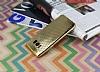 Samsung Galaxy S8 Plus Noktalı Metalik Gold Silikon Kılıf - Resim 2