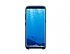 Samsung Galaxy S8 Plus Orjinal Alcantara Süet Koyu Mavi Kılıf - Resim 3