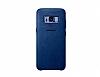 Samsung Galaxy S8 Plus Orjinal Alcantara Süet Koyu Mavi Kılıf - Resim 2
