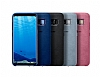 Samsung Galaxy S8 Plus Orjinal Alcantara Süet Koyu Mavi Kılıf - Resim 1