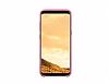 Samsung Galaxy S8 Plus Orjinal Alcantara Süet Pembe Kılıf - Resim 3