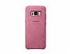 Samsung Galaxy S8 Plus Orjinal Alcantara Süet Pembe Kılıf - Resim 2