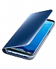 Samsung Galaxy S8 Plus Orjinal Clear View Standlı Kapaklı Mavi Kılıf - Resim 4