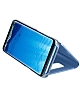 Samsung Galaxy S8 Plus Orjinal Clear View Standlı Kapaklı Mavi Kılıf - Resim 3