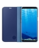 Samsung Galaxy S8 Plus Orjinal Clear View Standlı Kapaklı Mavi Kılıf - Resim 2
