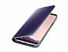 Samsung Galaxy S8 Plus Orjinal Clear View Standlı Kapaklı Lacivert Kılıf - Resim 4