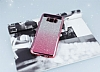 Samsung Galaxy S8 Plus Simli Parlak Pembe Silikon Kılıf - Resim 1