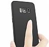 Samsung Galaxy S8 Plus Tam Kenar Koruma Siyah Rubber Kılıf - Resim 3