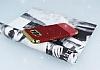 Samsung Galaxy S8 Simli Deri Kırmızı Silikon Kılıf - Resim 2