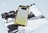 Samsung Galaxy S8 Simli Parlak Gold Silikon Kılıf - Resim 1