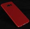 Samsung Galaxy S8 Tam Kenar Koruma Kırmızı Rubber Kılıf - Resim 9