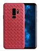 Samsung Galaxy S9 Hasır Desenli Kırmızı Silikon Kılıf