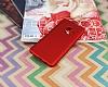 Samsung Galaxy S9 Mat Kırmızı Silikon Kılıf - Resim 1