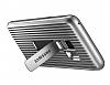 Samsung Galaxy S9 Orijinal Standlı Silver Kılıf - Resim 3