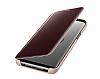Samsung Galaxy S9 Orjinal Clear View Uyku Modlu Standlı Gold Kılıf - Resim 6