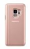 Samsung Galaxy S9 Orjinal Clear View Uyku Modlu Standlı Gold Kılıf - Resim 4