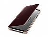 Samsung Galaxy S9 Plus Orjinal Clear View Uyku Modlu Standlı Gold Kılıf - Resim 6