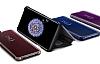 Samsung Galaxy S9 Plus Orjinal Clear View Uyku Modlu Standlı Gold Kılıf - Resim 1