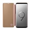 Samsung Galaxy S9 Plus Orjinal Clear View Uyku Modlu Standlı Gold Kılıf - Resim 5