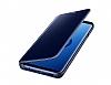 Samsung Galaxy S9 Plus Orjinal Clear View Uyku Modlu Standlı Lacivert Kılıf - Resim 7