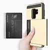 Samsung Galaxy S9 Plus Kartlıklı Ultra Koruma Gold Kılıf - Resim 3