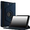 Samsung Galaxy Tab S3 9.7 T820 360 Derece Döner Standlı Lacivert Deri Kılıf - Resim 4