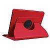 Samsung Galaxy Tab S3 9.7 T820 360 Derece Döner Standlı Kırmızı Deri Kılıf - Resim 5