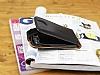 Samsung i8550 Galaxy Win Dik Kapaklı Siyah Deri Kılıf - Resim 3