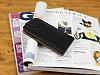 Samsung i8550 Galaxy Win Dik Kapaklı Siyah Deri Kılıf - Resim 2
