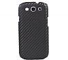 Samsung i9300 Galaxy S3 Carbon Fiber G�r�n�ml� Siyah K�l�f