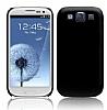 Samsung i9300 Galaxy S3 Mat Siyah Sert Rubber Kılıf
