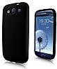 Samsung i9300 Galaxy S3 Siyah Silikon K�l�f