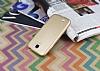 Samsung i9500 Galaxy S4 Mat Gold Silikon Kılıf - Resim 1