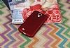 Samsung i9500 Galaxy S4 Mat Kırmızı Silikon Kılıf - Resim 1