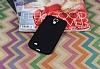 Samsung i9500 Galaxy S4 Mat Siyah Silikon Kılıf - Resim 2