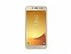 Samsung Jelly Cover Galaxy J7 Pro 2017 Orjinal Şeffaf Gold Silikon Kılıf - Resim 2